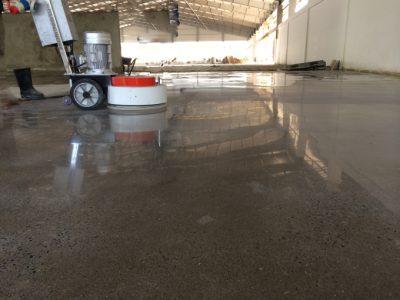 Nano silicate concrete floor